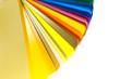 canvas print picture - Farbfächer mit weißem Hintergrund