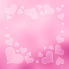 Blurred Valentine's Day Hearts Background 6