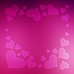 Blurred Valentine's Day Hearts Background 7