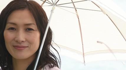 日傘を持ちたたずむ女性3
