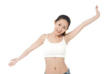 beautiful female figure on white background