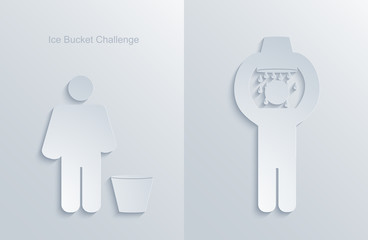 vector ice bucket challenge. modern flashmob.