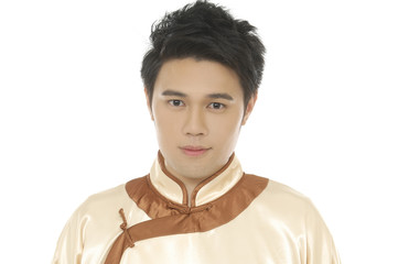 chinese young man with tradition clothing