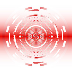 Light Red abstract tech circles background design