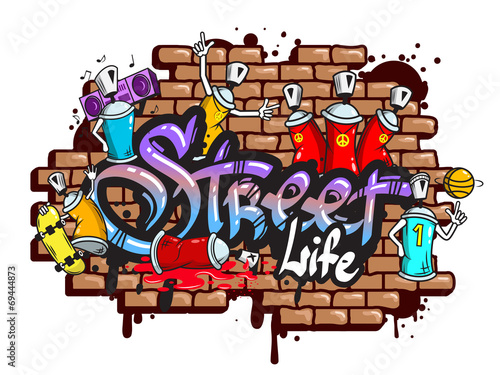 Graffiti word characters composition - 69444873