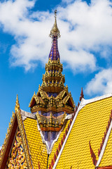 architecture top part of thai temple roof