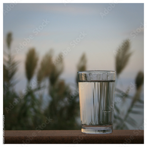 canvas print picture Glas Wasser
