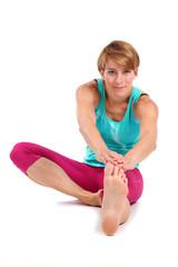 Dehnung der Beinbeuger- und Rückenmuskeln