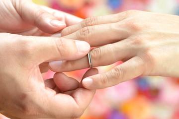 結婚―指輪の交換