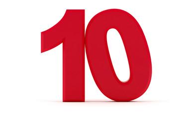 Number ten - 10