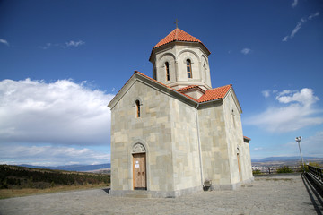 Tbilisi new Orthodox Church Krtsenisi hill Georgia