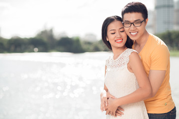 Loving Vietnamese couple
