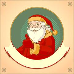 Santa retro logo