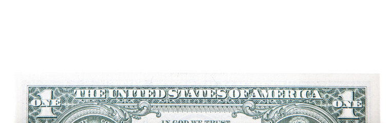 One US dollar detail background concept
