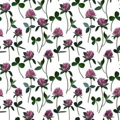 Seamless pattern clover