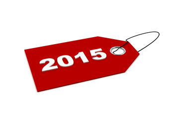 New year 2015 Sales tag