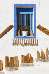 Traditional handmade olive wood works in Crete. Greece