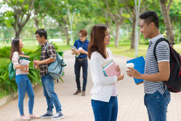 College students on campus