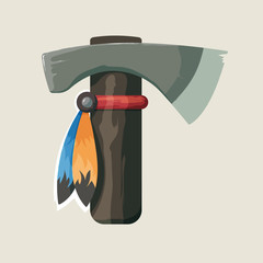 Vector illustration of native American Indian tomahawk