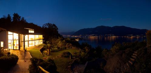Nocturne view of villa
