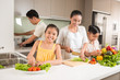 Happy Vietnamese family