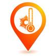 froid sur symbole localisation orange