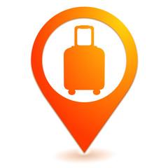 enregistrement des bagages sur symbole localisation orange