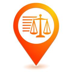 informations légales sur symbole localisation orange