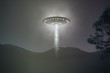 Leinwanddruck Bild - ufo abduction