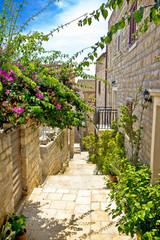 Narrow stone street in Hvar