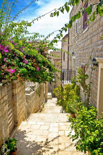 Narrow stone street in Hvar - 69449279