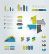 Infographics set elements. Vector template.