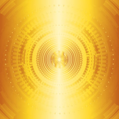 Yellow technologies background