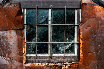 Old weathered window.