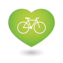 Heart icon with a bicycle