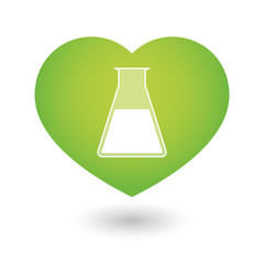 Heart icon with a chemical test rube