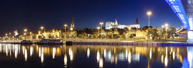 Panoramic view of Szczecin (Stettin) City with Pomeranian Dukes