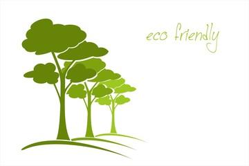Trees, landscape, green icon, business logo design