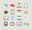 Business Icons in Flat Design Style