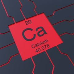 Calcium symbol - element from the periodic table