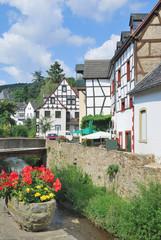 idyylischer Ortskern von Bad Münstereifel in der Eifel