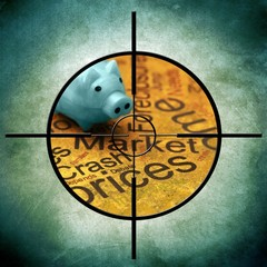 Market crash prices concept