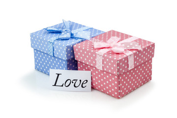 Little presents boxes for female and male