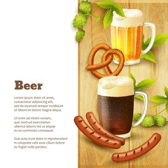 Beer and snacks border