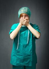 surgeon take a virus