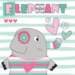elephant love vector illustration