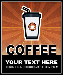 Coffee grunge retro poster