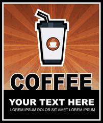 Coffee grunge retro poster