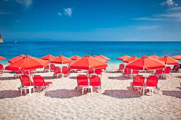 Valtos beach near Parga  in Greece.
