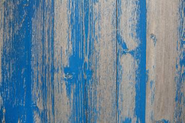 Verwittertes altes Holz in Blau als Hintergrund